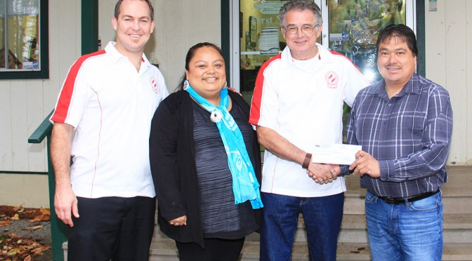 Stz'uminus First Nation Donation for Playground