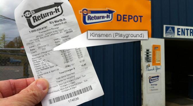 Recycling receipt