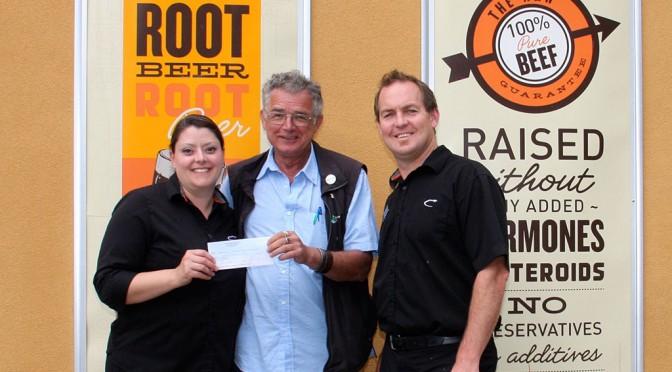 A&W Ladysmith Donates $1,000