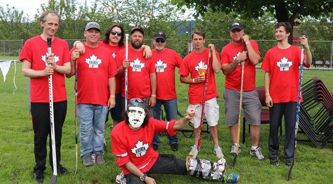 "Kinsmen ""Red Army"" in Street Hockey"
